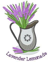 Lavender Lemonade embroidery design
