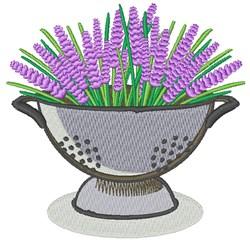 Lavender Collander embroidery design