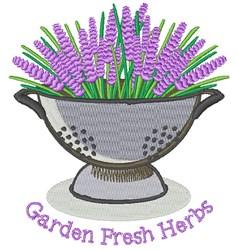 Fresh Herbs embroidery design
