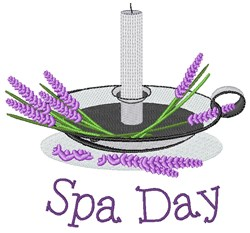Spa Day embroidery design