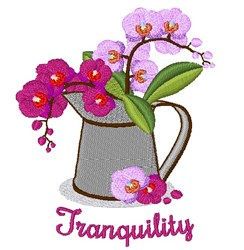 Tranquillity embroidery design