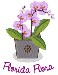 Florida Flora embroidery design