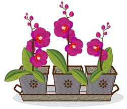 Orchid Tray embroidery design