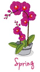Spring Orchid embroidery design