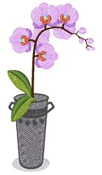 Purple Orchid embroidery design