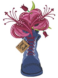 Good Luck Lily embroidery design