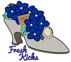 Fresh Kicks embroidery design