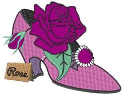 High Heel Rose embroidery design
