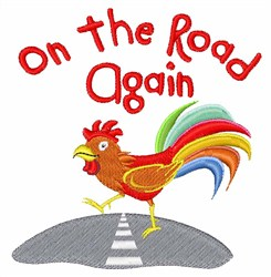 Chicken On Road embroidery design