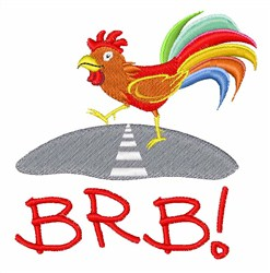 Rooster BRB embroidery design