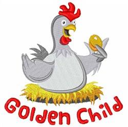 Golden Child embroidery design