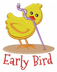 Early Bird embroidery design
