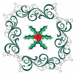 Holly Decoration embroidery design
