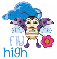 Fly High Ladybug embroidery design