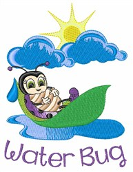 Water Bug embroidery design