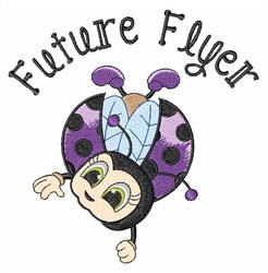 Future Flyer embroidery design