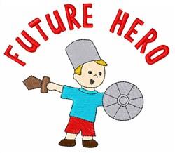 Future Hero embroidery design