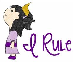I Rule embroidery design