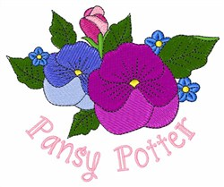 Pansy Potter embroidery design