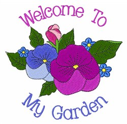 Welcome to My Garden embroidery design