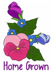 Home Grown Pansy embroidery design