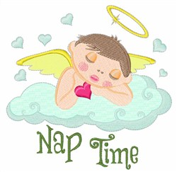 Nap Time embroidery design