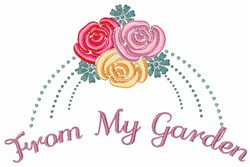 From My Garden embroidery design