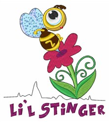 Lil Stinger embroidery design