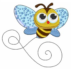 Honeybee embroidery design