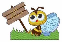 Bee Mine embroidery design