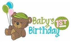 Babys 1st Birthday embroidery design