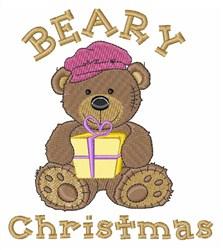 Beary Christmas embroidery design