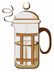 Coffee Press embroidery design