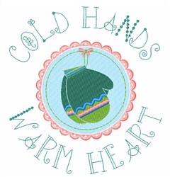 Cold Hands embroidery design