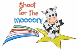 Shoot For The Moon embroidery design