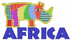 Africa Rhino embroidery design