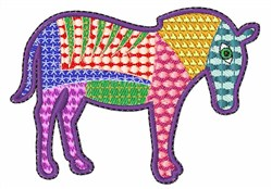 Patchwork Horse embroidery design