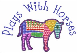 Plays With Horses embroidery design