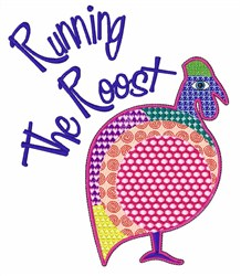 Running The Roost embroidery design