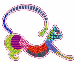 Patchwork Kitten embroidery design