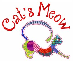 Cats Meow embroidery design