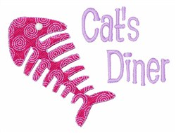 Cats Dinner embroidery design
