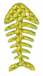 Fish Bone embroidery design