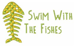Swim With The Fishes embroidery design