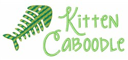 Kitten Caboodle embroidery design