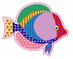 Fish Patchwork embroidery design