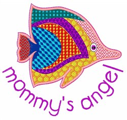 Mommys Angel embroidery design