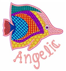 Angelic Fish embroidery design