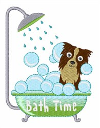 Dog Bath Time embroidery design