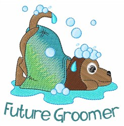 Future Groomer embroidery design